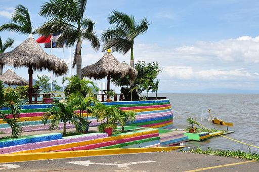 Malecón, by the side of Lago de Managua, Managua, Nicaragua